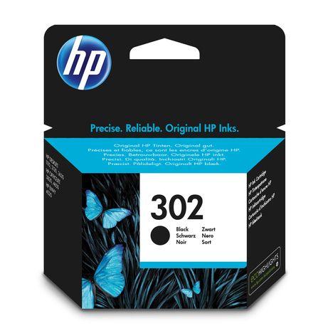 HP Cartouche d'Encre HP 302 Noire Authentique (F6U66AE)