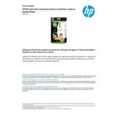 HP Cartouche d'encre N.301 2 Cartouches : Noire + Couleurs