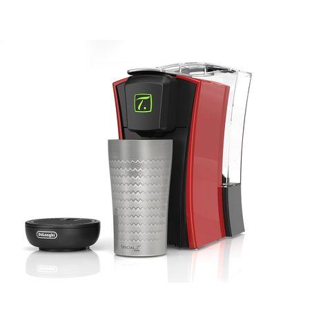 DELONGHI Machine à thé Special T TST400.R, Noir et rouge