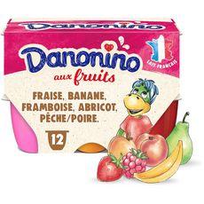 DANONINO Petits suisses aux fruits 12x50g