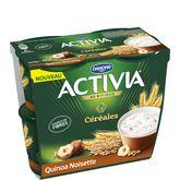 Danone Activia yaourt céréales quinoa noisette 4x120g