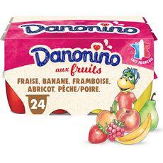 DANONINO Petits suisses aux fruits 24x50g