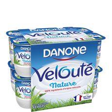 DANONE Danone  velouté  yaourt brassé nature 12x125g