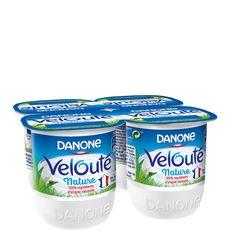 DANONE Velouté yaourt brassé nature 4x125g