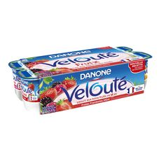 Danone velouté fruix yaourt fruit mixés fruits rouges 8x125g