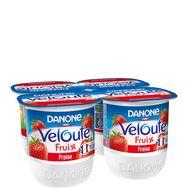 Danone  velouté fruix yaourt aux fruits mixés fraise 4x125g