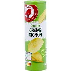 AUCHAN Tuiles saveur crème oignon 170g