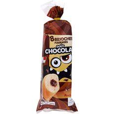 AUCHAN Brioches fourrées au chocolat 8 pièces 310g