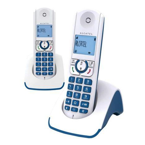 t l phone fixe f330 s pure sound duo bleu alcatel pas. Black Bedroom Furniture Sets. Home Design Ideas