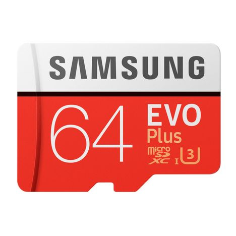 SAMSUNG Carte mémoire Micro SD EVO PLUS 64 Go + adaptateur SD