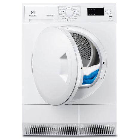 ELECTROLUX Sèche-linge porte pleine EDH3685PZW, 8 Kg, Condensation, Pompe à chaleur