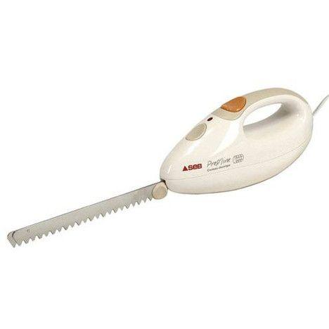 SEB Couteau electrique 8523.01 Prep'Line Blanc 100W