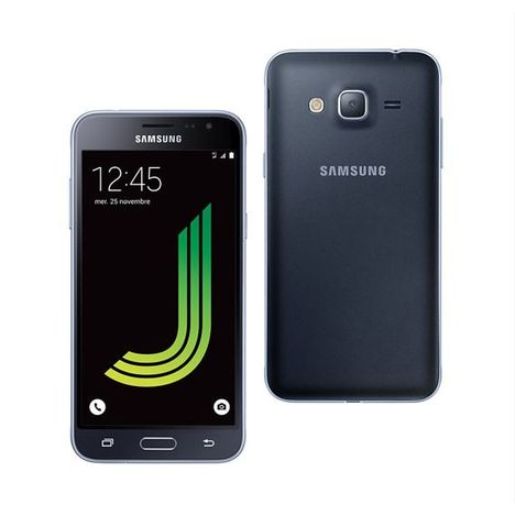 smartphone galaxy j3 edition 2016 noir samsung pas cher prix auchan. Black Bedroom Furniture Sets. Home Design Ideas