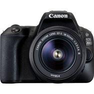 CANON Appareil Photo Reflex - EOS 200D - Noir + Objectif 18-55 mm