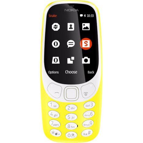 t l phone portable nokia 3310 double sim jaune nokia. Black Bedroom Furniture Sets. Home Design Ideas