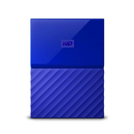 WESTERN DIGITAL Disque dur externe 1 To Bleu  WDBYNN0010BBL-WESN
