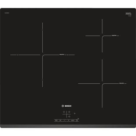 BOSCH Table de cuisson vitrocéramique PUJ631BB1E, 60 cm, 3 Foyers