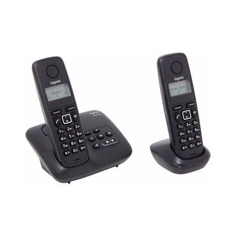 GIGASET Téléphone fixe - AL117A  - Noir - Répondeur