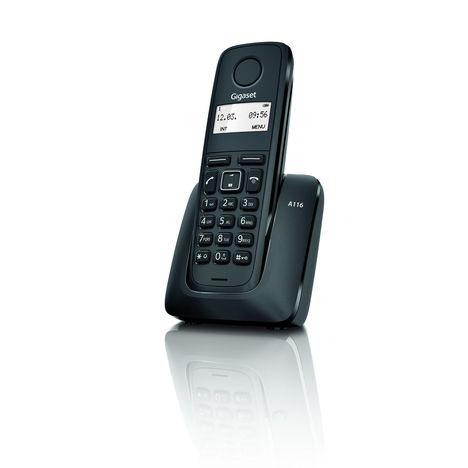 GIGASET Téléphone fixe - A116 - Noir