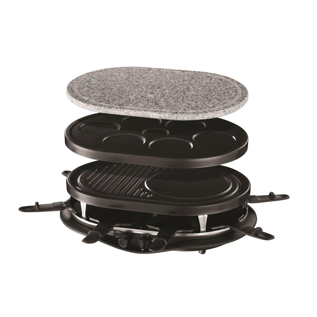 Raclette 21000-56 Fiesta quatuor 4 en 1 - 1200W, 8 poêlons