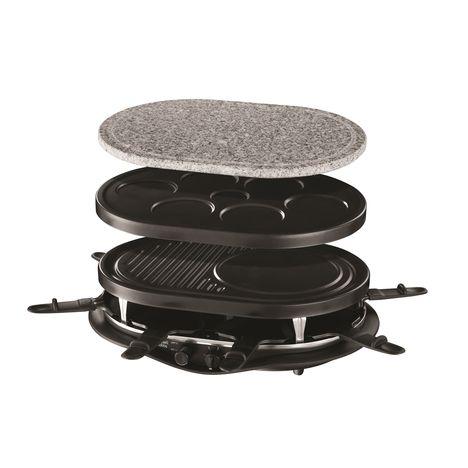 RUSSELL HOBBS Raclette 21000-56 Fiesta quatuor 4 en 1 - 1200W, 8 poêlons
