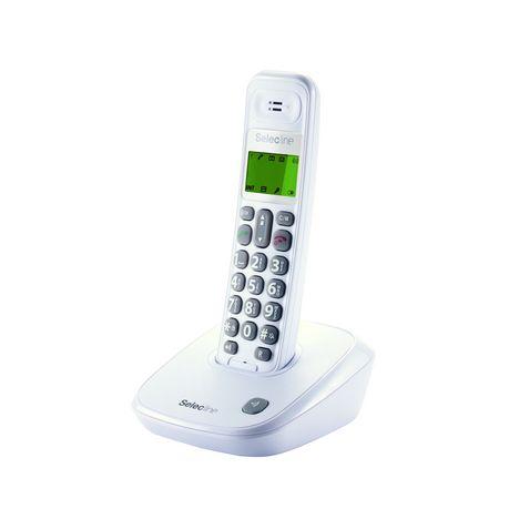 t l phone fixe 848059 blanc selecline pas cher prix auchan