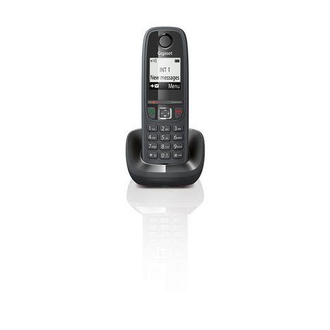 GIGASET Téléphone fixe AS405 Solo - Noir