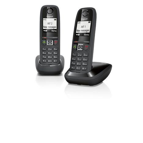 GIGASET Téléphone fixe DUO -  AS405 - Noir