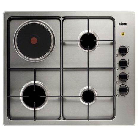 table de cuisson mixte fgm62444xa 58 cm 3 foyers gaz 1 foyer lectrique faure pas cher prix. Black Bedroom Furniture Sets. Home Design Ideas