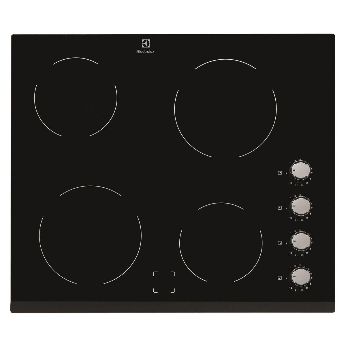 Table de cuisson vitrocéramique EHV6140FOK, 60 cm, 4 Foyers