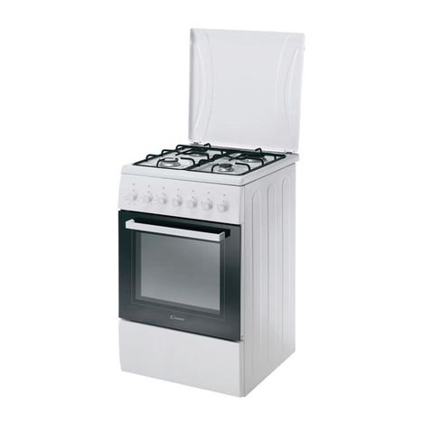 Cuisini re gaz ccg5140pw 1 60 cm 4 foyers gaz four convection naturelle candy pas cher - Four convection naturelle ...