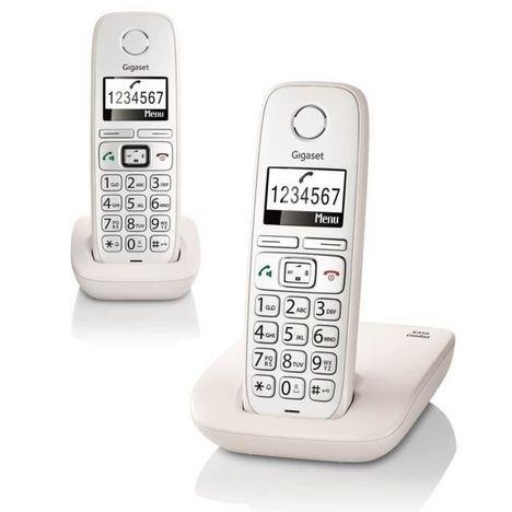GIGASET Téléphone fixe - E310 Duo - Blanc