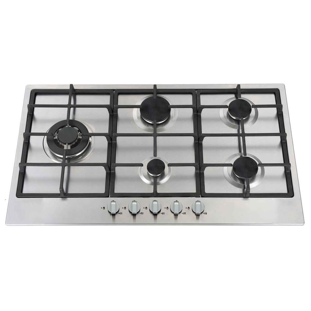 Table de cuisson à gaz LIGKXG90X, 90 cm, 5 Foyers dont 1 wok 3800 W