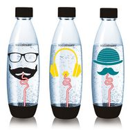 SODASTREAM Pack 3 bouteilles grand modèle FUSE HIPSTER