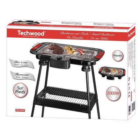 Barbecue De Table Ou Sur Pied Tbq 825p Grille Inox Techwood Pas