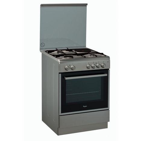 WHIRLPOOL Cuisinière mixte ACMK6433IX, 60 cm, 3 foyers à gaz, 1 électrique, Four catalyse multifonction