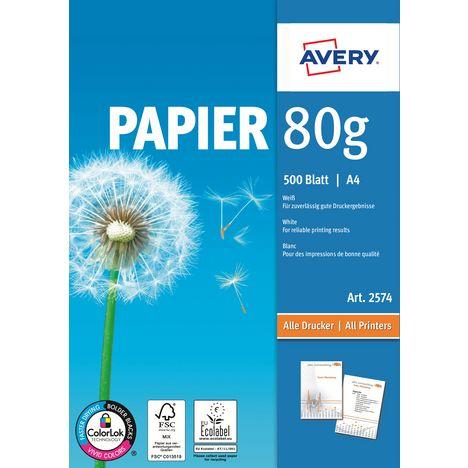AVERY Papier A4 80Gr x 500 Feuilles