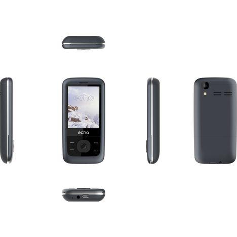 t l phone mobile slide bleu ardoise double sim echo. Black Bedroom Furniture Sets. Home Design Ideas