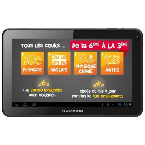 Tablette Tactile Teo Educative Noir Thomson Pas Cher à Prix Auchan
