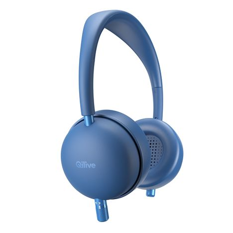 QILIVE Casque audio Q1007 Bluetooth - Bleu