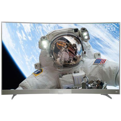 55uc6596 gris t l viseur led ultra hd curved thomson pas cher prix auchan. Black Bedroom Furniture Sets. Home Design Ideas