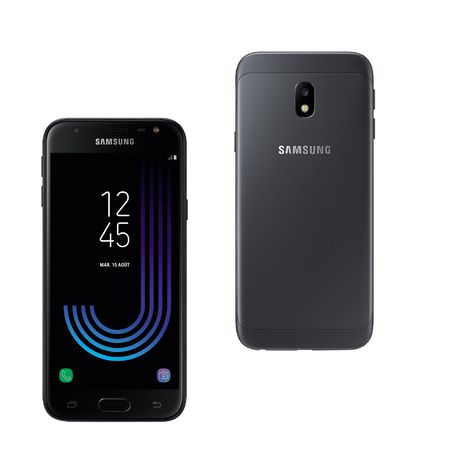 smartphone galaxy j3 2017 16 go 5 pouces noir samsung pas cher prix auchan. Black Bedroom Furniture Sets. Home Design Ideas