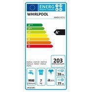 WHIRLPOOL Lave-linge hublot AWOD 4721, 7 Kg, 1400 T/min