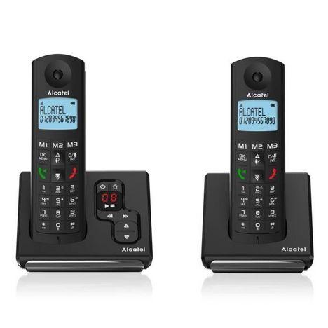 ALCATEL Téléphone fixe - F690A - Noir - Répondeur