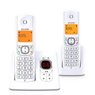 t l phone fixe f530 duo voice gris r pondeur alcatel pas cher prix auchan. Black Bedroom Furniture Sets. Home Design Ideas