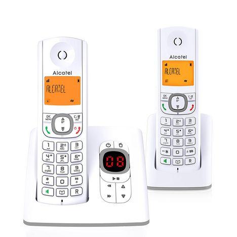 ALCATEL Téléphone fixe - F530 DUO VOICE  - Gris - Répondeur