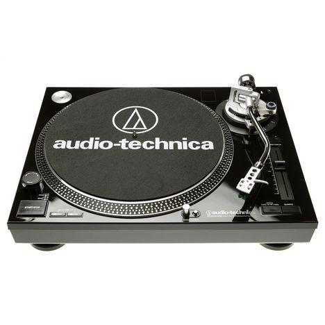 AUDIO TECH Platine vinyle AT-LP120USBHC BK - Noir - Préampli phono intégré - Cellule AT-95E