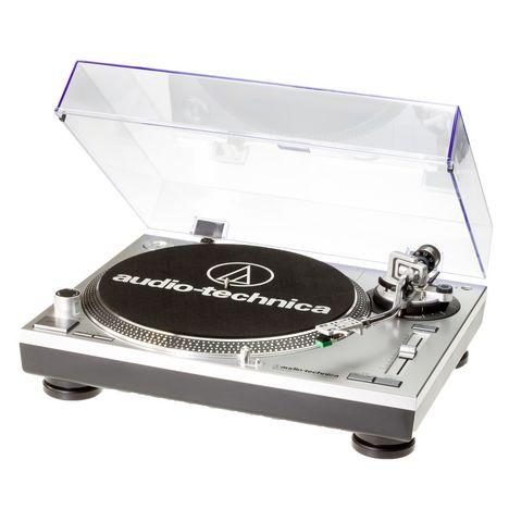 AUDIO TECH Platine vinyles AT-LP120USBHCSIL - Argent