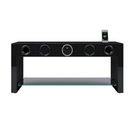 Soundstand80b Noir Meuble Tv Amplifie Soundvisio Pas Cher A Prix