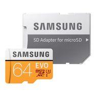 SAMSUNG Carte micro SD 64G EVO ADAPT